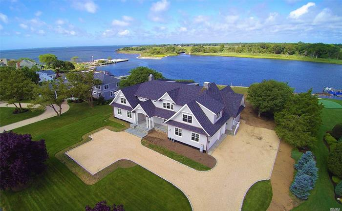 2018 Hampton's Style Cedar Colonial On Champlin Creek In The Moorings. This 4600-6100 Sqft Mansion Is One Of Eight Properties With Protected Water For Your Yacht And Bay Views. 1 Acre Of Serine Privacy And Stunning Sunset Views Of The Nature Preserve Across The Way. Hi End Build All The Bell And Whistles Including 5/4 Kitchen Cabinetry And Amazing Mill Work Thru-Out.3 Car Gar, Full Basement. Elevation Elevation Elevation! Location Location Location!