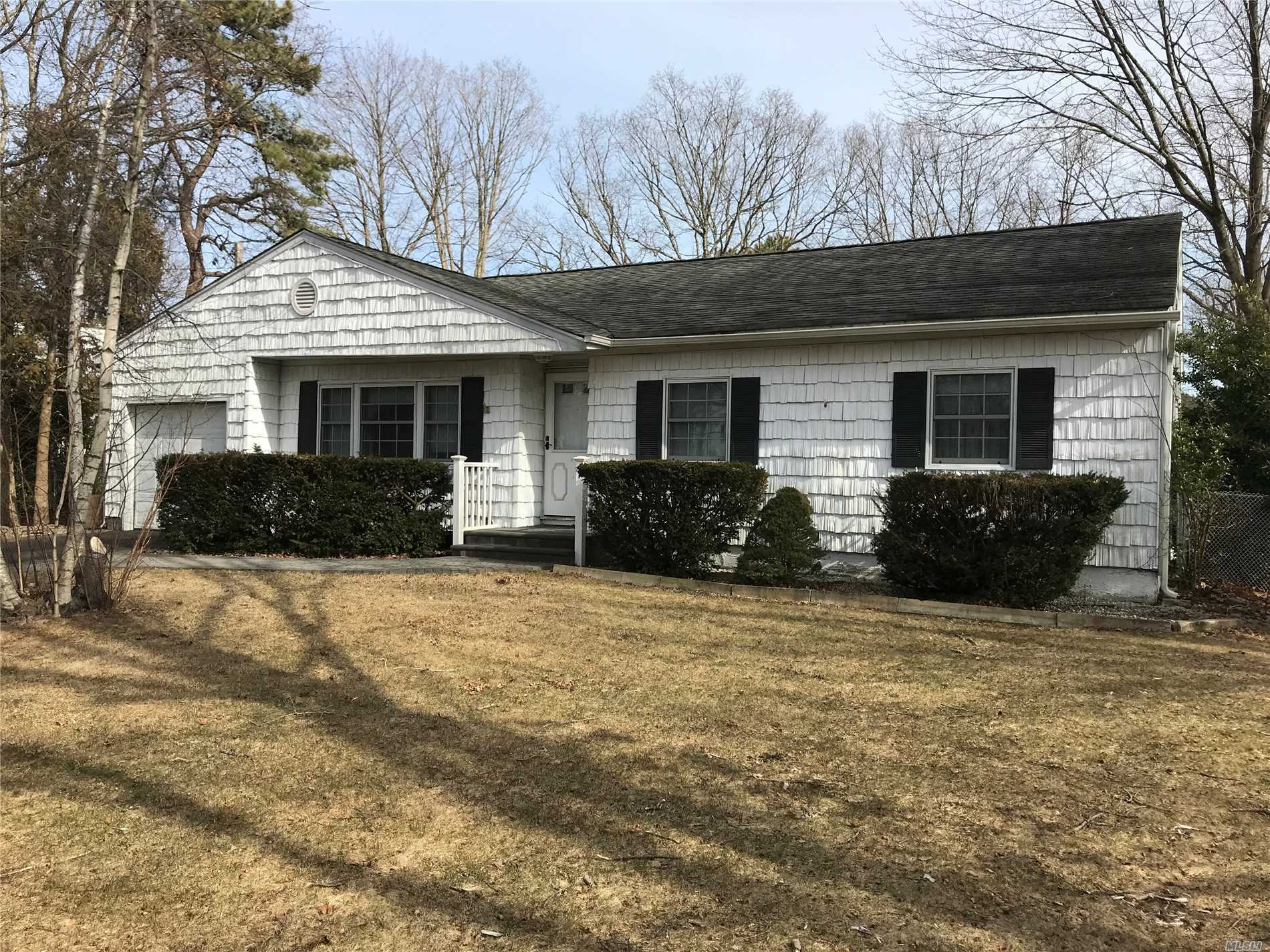 Beautiful 3 Bedroom Ranch On Large Property Features New Central Ac And Hardwood Floors, 2 Full Baths, A Formal Dining Room, Living Room & Den With Fireplace. An Attached Garage And A Full Basement.