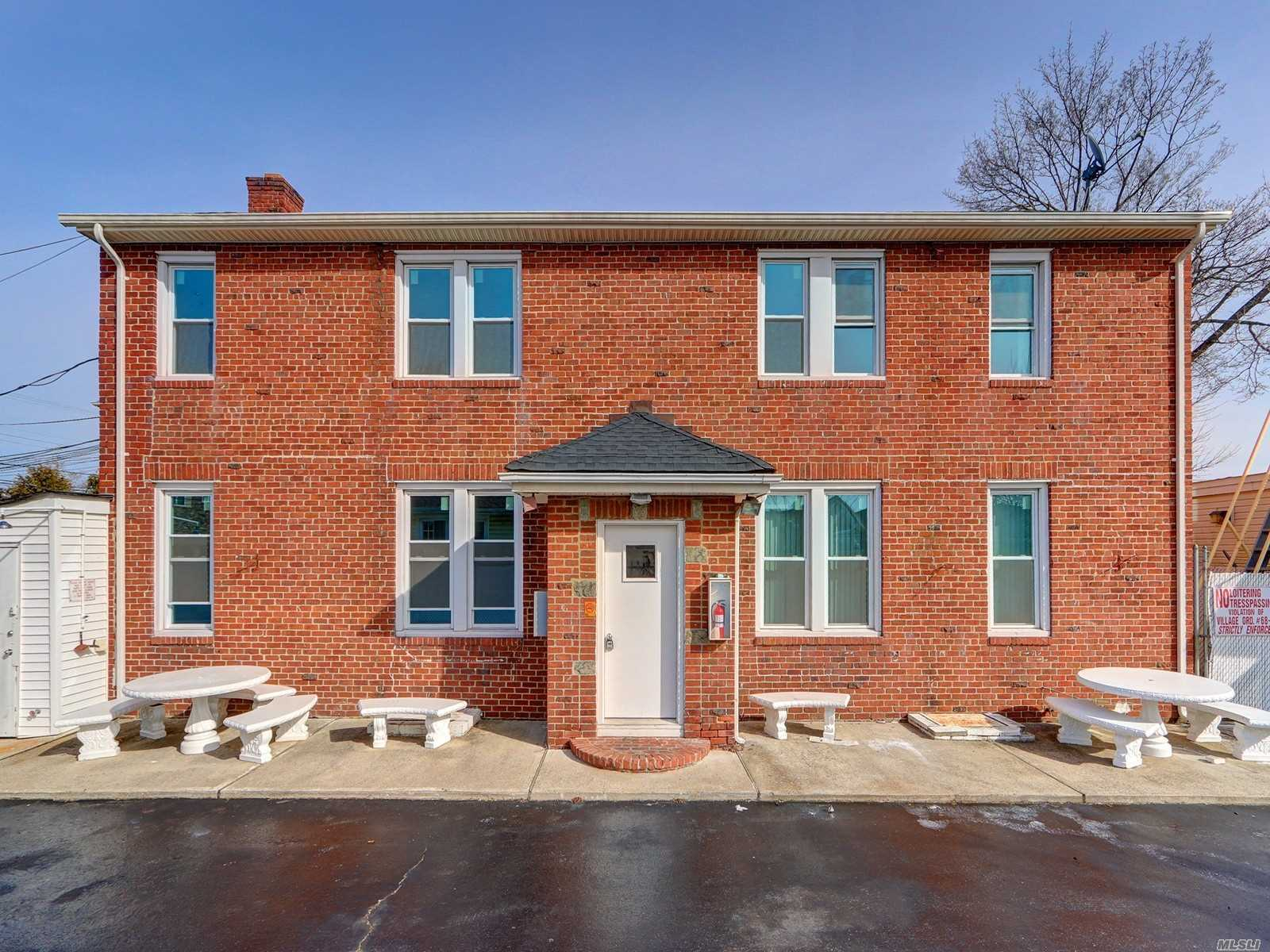 Magnificent Legal 4 Family, Inc. Vlg, Solid Brick Free Standing Building In Farmingdale, All Brand New Windows, Brand New Gas Heating System, New Roofs, New Gas Connections, Updated Kitchen, Cac, All Outside New Heating, Oversized Commercial 3 Car Detached Gar, Long Driveway & Plenty Of Onsite Parking. Walk To Town, Shopping. Must See!!
