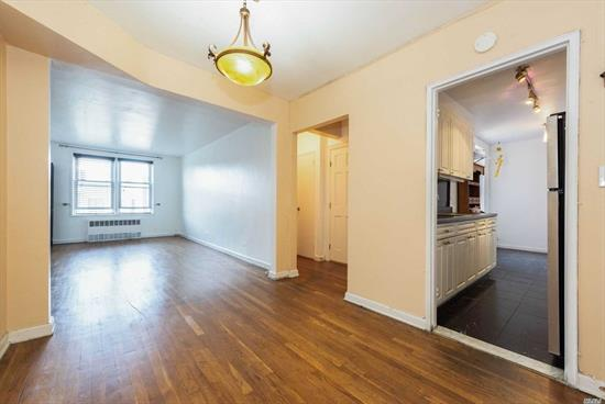 Welcome to 6K, a spacious 1 Br corner unit on the top floor of a well maintained Coop. The unit features a fully renovated EIK, a separate dining area/foyer/office, a large LR, a king sized bedroom, & 3 spacious closets. The bathroom has floor to ceiling tiles, a granite vanity, & a new tub. This apartment shares only one wall w/the adjacent unit . That feature combined with being on the top floor will ensure you privacy and peaceful living. The Maintenance Of $562 Is Inclusive Of All Utilities.