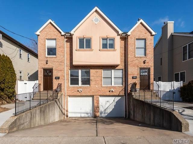 A Two Family In The Carle Place School District /Side By Side Town Home Style. Each Unit Has 3 Bedrooms 2.5 Baths With All Hardwood Floors, Central Air, Gas Heat, Garage And Parking Space Very Rare Find !! Has Lots Of Storage, Laundry In Unit, Everything Separate !! A Must See !!!