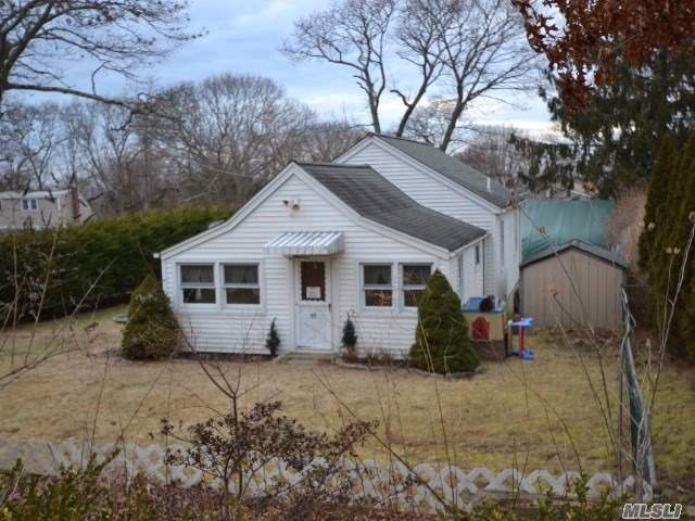 Endless Possibilities In This Clean 2 Bedroom House, Larger Than It Looks. Newer Roof, Siding & Windows, & Upgraded 200 Amp Electric Service. All This Set On A Flat Landscaped Lot In Middle Country School District.