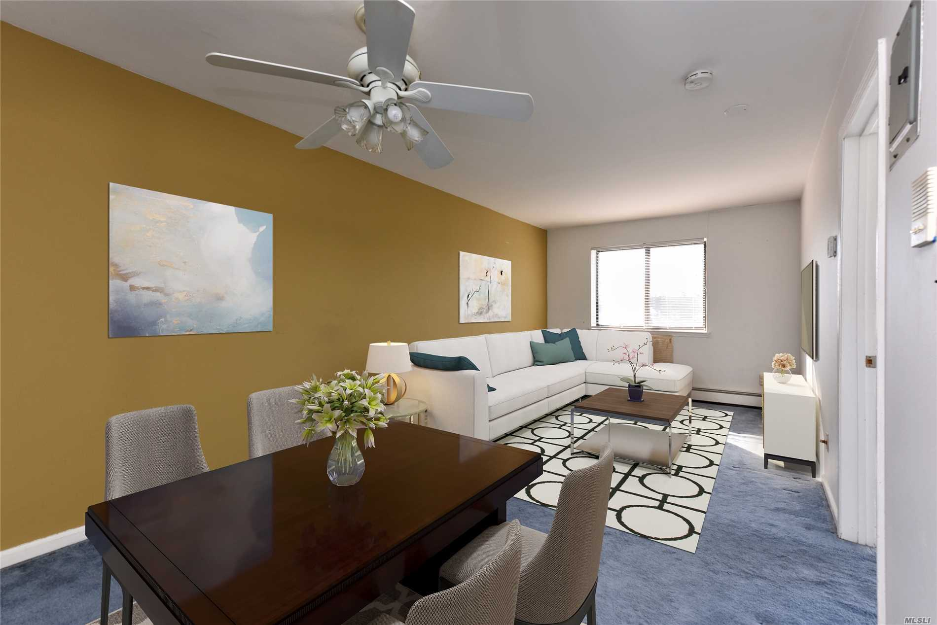 Beautiful And Large One Bedroom Condo In Flushing With Updated Kitchen And Bathroom, Private Washer/Dryer In The Basement, Living Room With Balcony. Low Common Charge Of $182 A Month, Near Lirr, Q12, Q65, To Flushing #7 Train, Near Restaurants And Shops. Convenient To All.