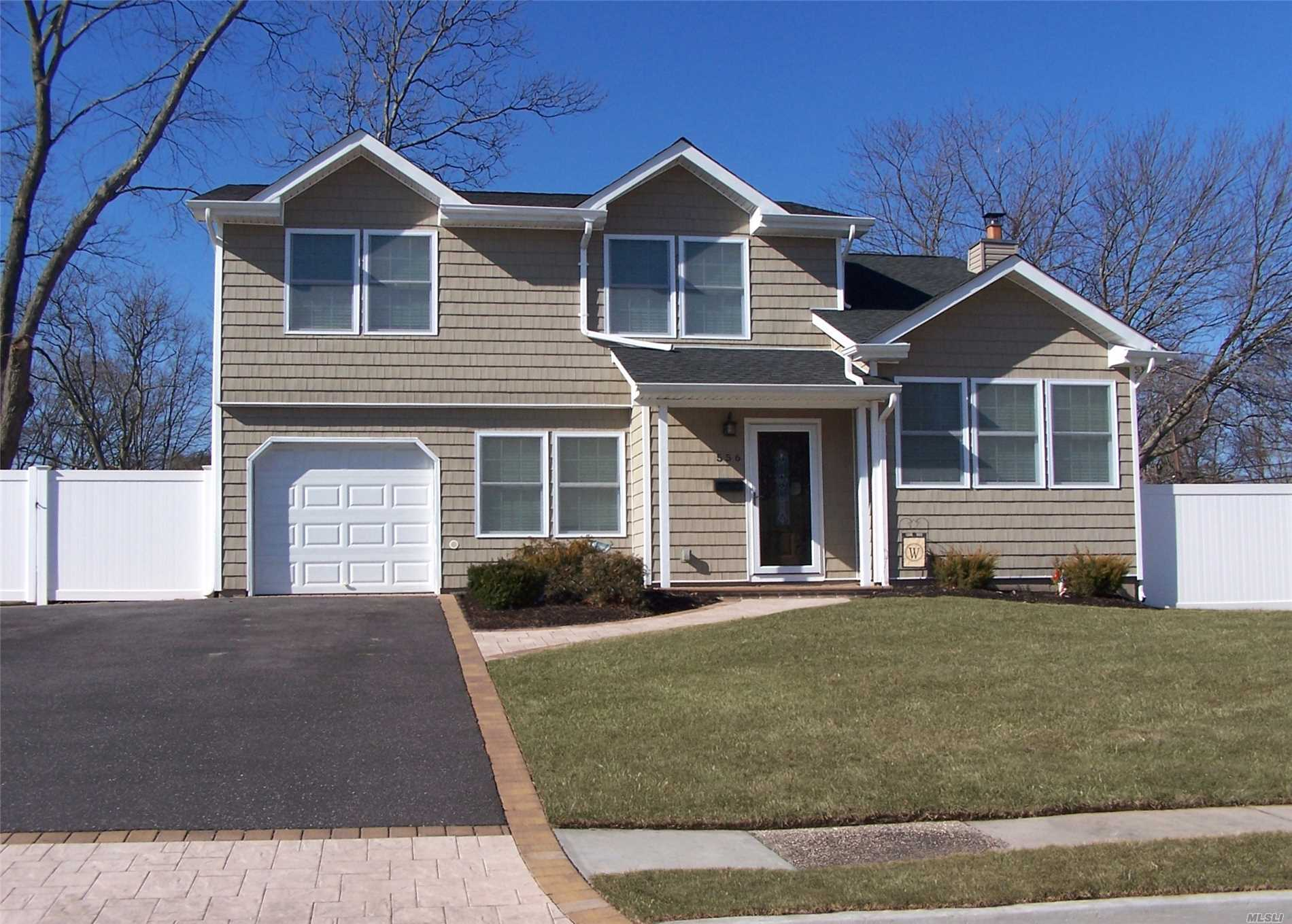 All Newly Renovated Magnificent  4 Bedroom 2.5 Bath, Colonial In Bayport/Blue Point School District , Features High Hats Throughout The Home, Formal Dining Room,  Eik With Granite Countertops, And Cherry Cabinets,  And Ss Appliances, Living Rm, Den,  Master Bedroom Suite W/Walk In Closet, Central Air, New Roof, Siding & Windows.