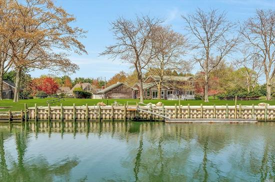 Greenport Waterfront On Fordham Canal. For Serious Boaters, 177 Feet Of New Bulkhead In 2017 With Deep Water Dock And Ramp (Approx. 6+ Feet At Mean Low Tide), Direct Bay Access With Views To The Bay And Shelter Island. Four To Five Bedrooms, Three Baths, Waterside Great Room With Fireplace, 2.5 Car Garage. Convenient To Beaches, Golf, Wineries And Greenport Village.  This One Will Not Last.