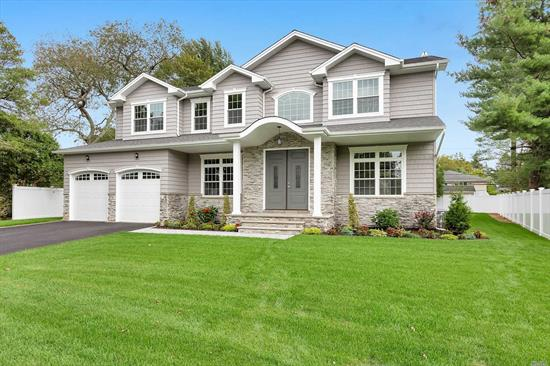 Prime North Syosset ! 3800 Sq Ft. Home Featuring Grand 2 Story Entrance, Hardwood Floors,  5 Bedrooms, 4.5 Bathrooms, , Sun-Filled Master Br W/Tray Ceiling- 2 WIC, Designer Kitchen W Center Island And Ss Appliances, Walk In Pantry, 1 Bedroom On Main Level W/ Full Bath- Den W/ Gas Fire Place , CVAC, UGS, Alarm Full Basement W/ Ose. Fenced Yard .Buyer Responsible To Pay Transfer Taxes, Final Survey, Water & Sewer Fees.Offers must be presented w/proper paperwork , pre approval or proof funds .