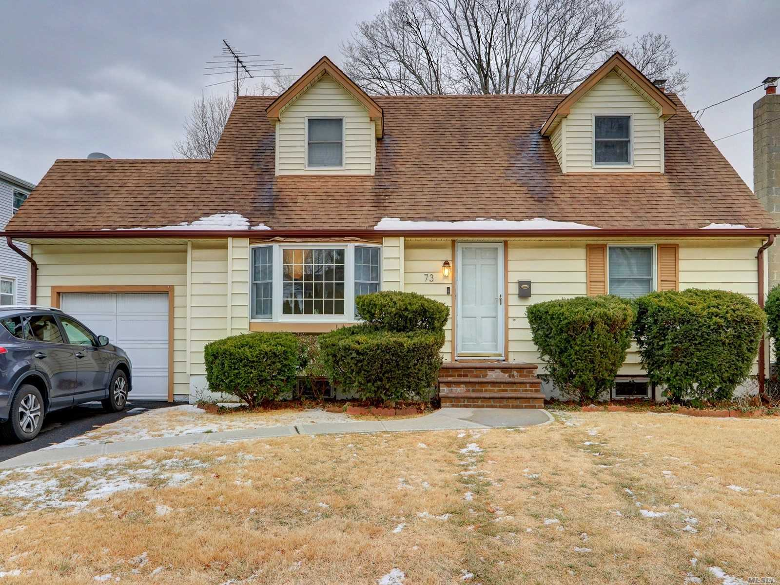 Charming Cape In Desirable Massapequa Park! 4 Bedrooms, 1 Bath, Living Room, Dining Room, Kitchen, Beautiful Hardwood Floors Throughout! Full Basement, Private Yard, Quiet Street, Close To All! Don't Miss Out On This Wonderful Home!