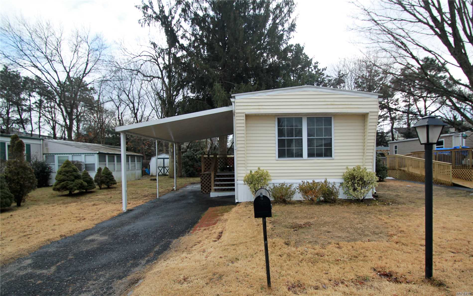 Bright, Inviting And Move-In Ready. New Roof, Insulation, Siding, Skirting In 2017. New Hw Heater In 2018. Separate 10Ft. X 15Ft. Secure Shed With Power. Enclosed Patio. All Furnishings And Household Items Included. Park Hoa (Appx $980/Month) Includes Lot Rental, Sewer, Water, Garbage Pickup, Street Snowplowing. Buyers Must Qualify For Park Residency With Good Credit Score And Income Verification Proving $3000/Mo. Income After Other Obligations. Nys Star Rebate Available To Resident Owners.