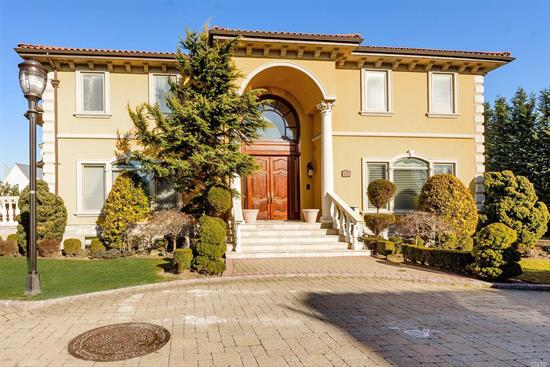 Elegant Colonial With Grand Entrance, Spiral Staircase, Cathedral, Tray And Coffered Designed Ceilings, Radiant Heated Floors Throughtout, Formal Dining Rm And Living Rm, Library, Open Floor Plan Chefs Kitchen W/Granite Counter Tops, High-End Appliances, Den W/ Gas Fireplace, Ose To Patio, Master Bedrm Suite, W/Private Bath, Fireplace, Balcony. Three Bedrooms W/ Ensuite Bathrooms, Basement W/ Jacuzzi, Wetbar.Theater, Laundry Rm, Access To 3 Car Garage, Smart House, Heated Driveway Terracotta Roof.