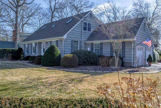 Baywoods! Deeded Bay Beach And Deeded Boat Slip! Landscaped Cape For Privacy. 4 Bedrooms, 2 Baths, Formal Living Room,  Formal Dining Room, Family Room With Fireplace And Eat In Kitchen. Inground Pool With New Deck Around It. Full Basement And 2.5 Car Garage.