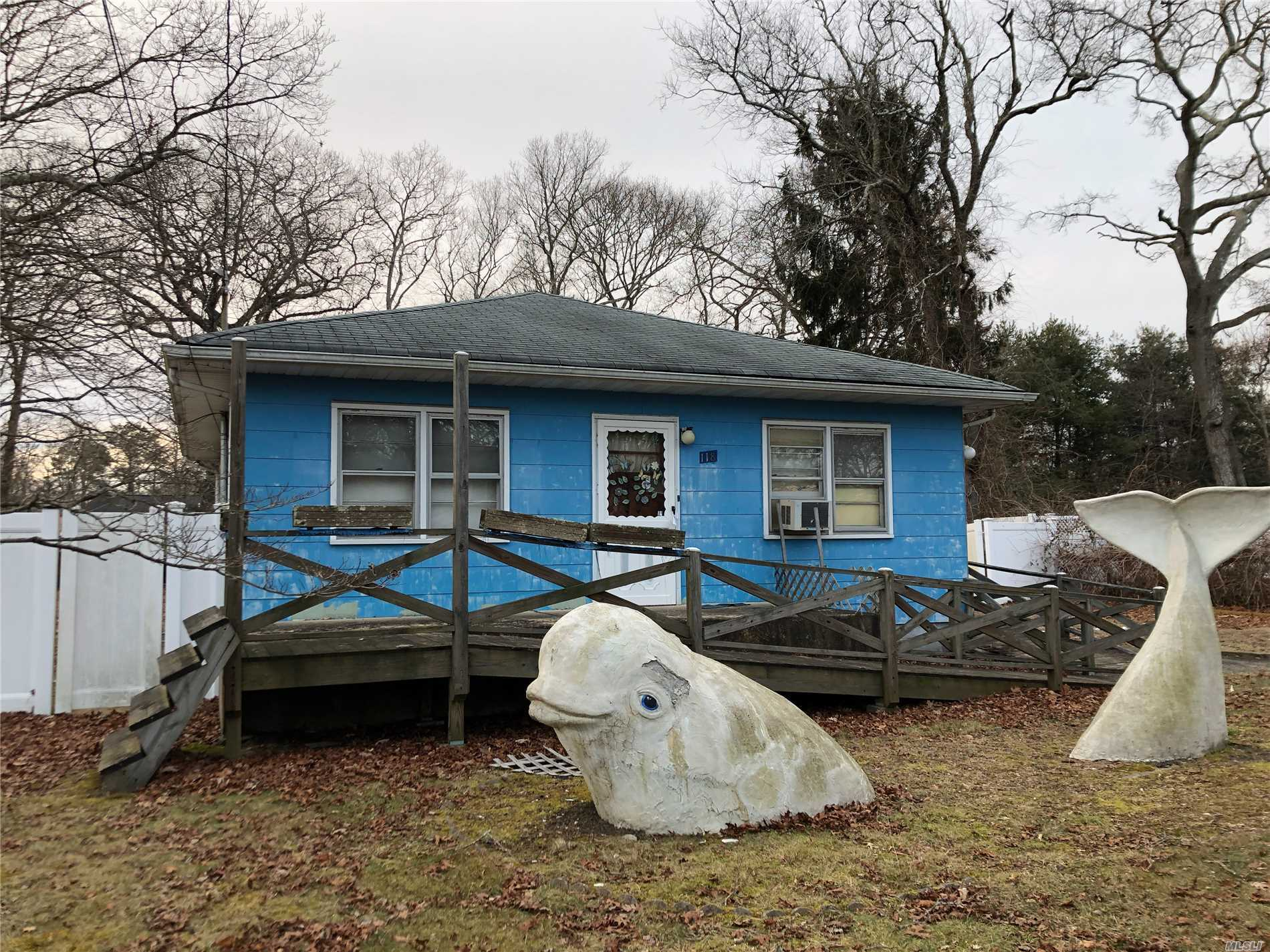 Great Bones On This Cute 2-Bedroom Ranch Offering Hardwood Floors, Huge Eik, Large Lr, Full Bth, Basement And Detached Garage Being Used As Art Studio! Updated Electric Panel Box. House Being Sold As Is With No Representations Or Warranties. Great Opportunity. Close To Parks And Beach!