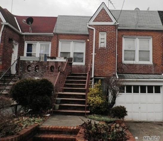 1 Family Attached Brick  1st Floor: Walk In, Laundry Room, Storage Room, Garage 2nd Floor: Eat In Kitchen, Living Room, 2 Bedrooms & Full Bath School District: 208 Near, Shopping Areas, Parks And , Restaurant Buses : Q 3, Q 4 And E, F Train Cross Street Keeseville Ave
