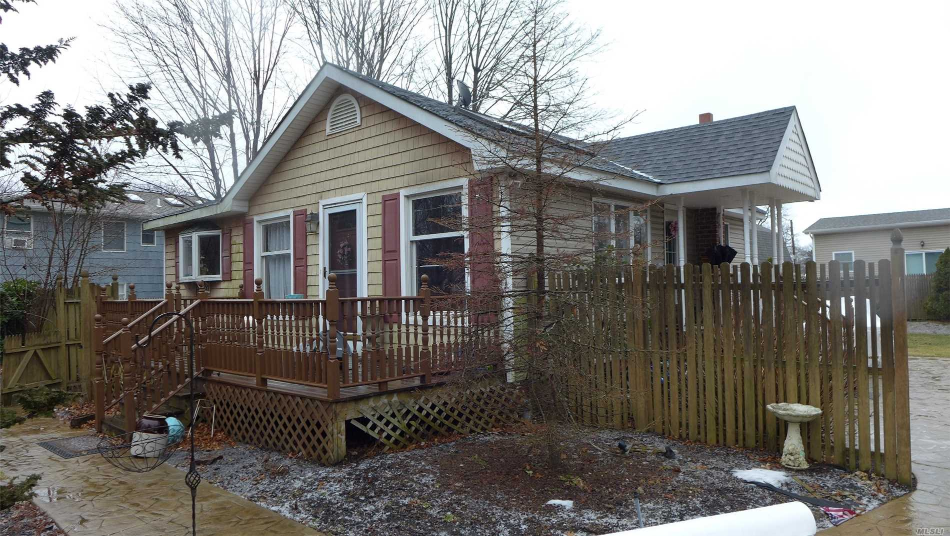 Great 2/3 Bedroom Starter Home On A Private Dead End Street. Vaulted Ceilings, Eik, Full Finished Above Grade Basement W Potential Income W Proper Permits.  Nice Backyard With Stamped Concrete Walkways And A Large Paver Driveway.