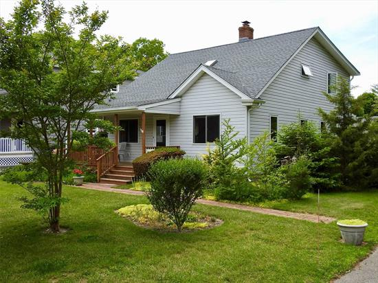 In The Village Of Westhampton Beach, South Of The Highway, 3 Bedroom, 2 Full Bathroom Cape Renovated In 1993 With Oversized Windows, New Appliances, Slider, Sky Light In An Open Sunny Floor Plan. Extra Large Master Bedroom Up With 2 Additional Guest Bedrooms And Full Bath. Backyard Enclosed With Privacy Hedges. Front Porch. 1.5 Garage.