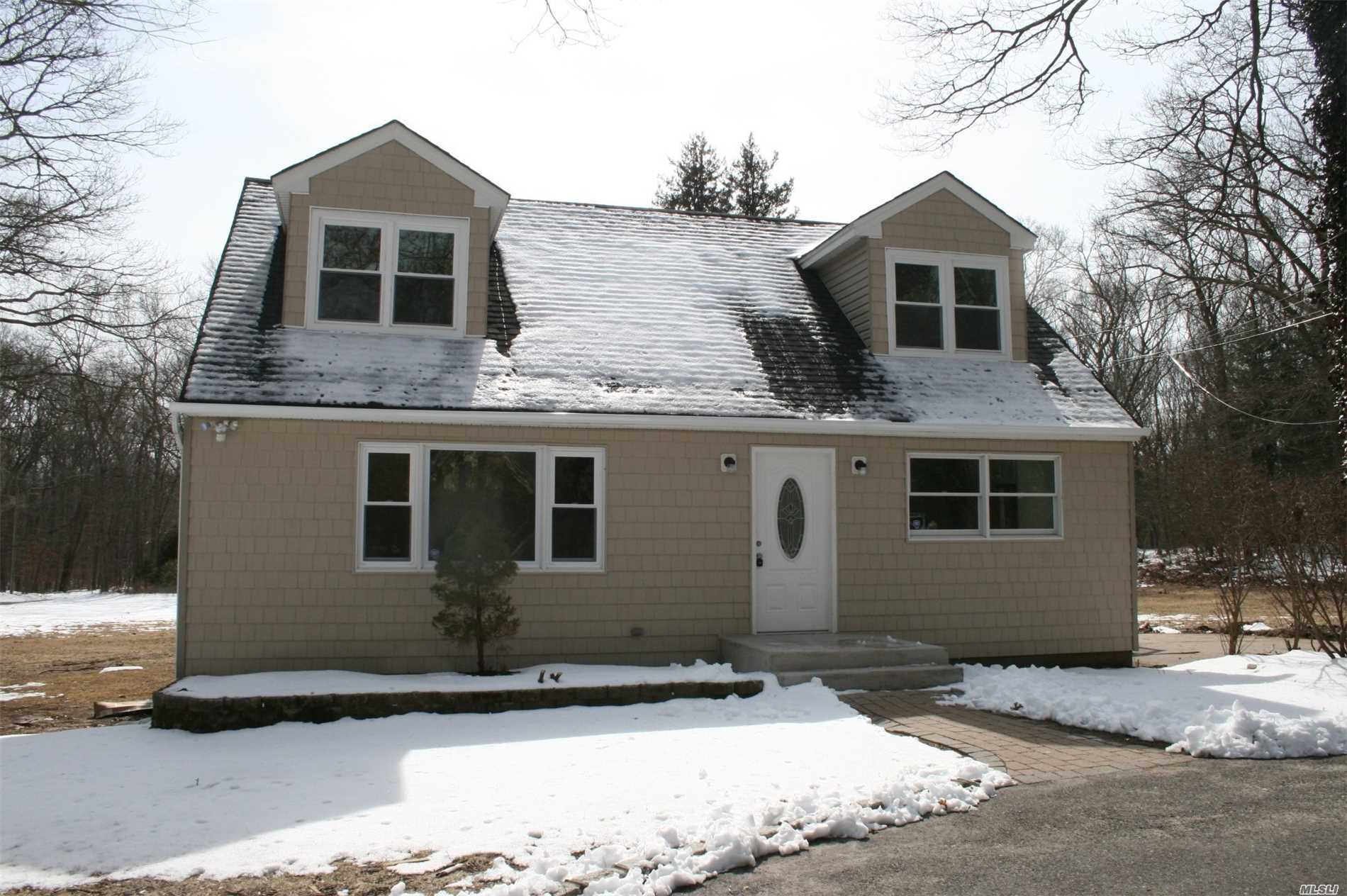 Welcome To Horse Country! Large Cape Cod W/New Roof, Siding, And Driveway! Beautiful Wood Floors, Kitchen W/Granite Countertops, Tile Backsplash, And Stainless Appliances! New Heating System! Two New Baths, 4 Large Bedrooms, And An Oversized Basement All On 1 Acre Of Property! Will Not Last!!!