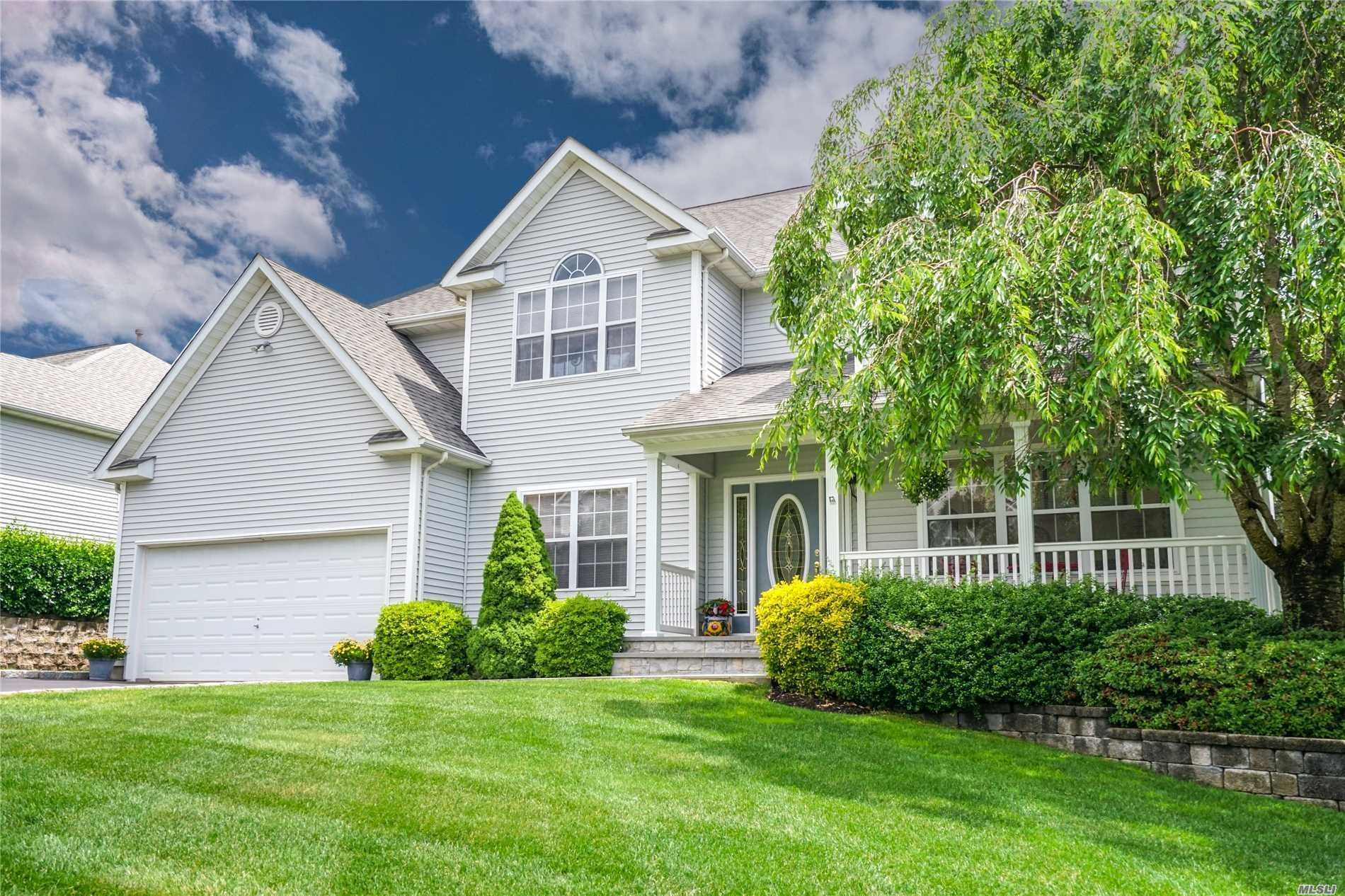 Diamond Designer Victorian Features 4 Bedrooms, 2.5 Baths, Master Suite W/Full Bath & Walk In Closets, Sprawling Oak Staircase, Chef's Honey Oak Eat In Kitchen, New Appliances, Spacious Den W/Wood Burning Fp, Entertaining Size Fdr, Hi Hats, Cac, Full Basement W/Ose. This Home Offers Many Upgrades Including Gleaming Hardwood Floors, Vaulted Ceilings, Beautifully Landscaped Yard Backing Nature Preserve, Stunning Brick Patios, Minutes To Wineries, Tanger Outlets & Restaurants