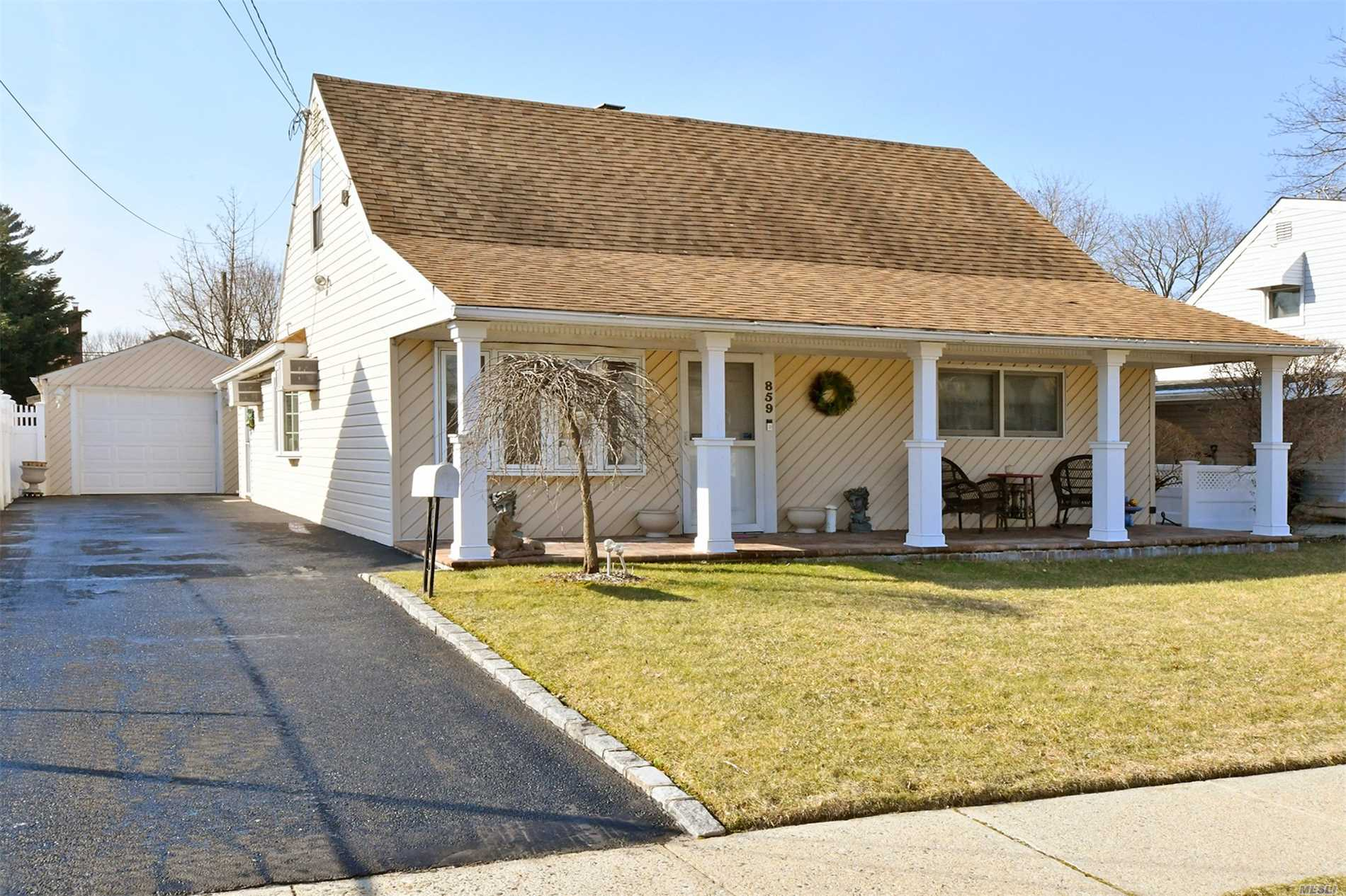 Beautiful Salisbury Cape - Mid Block Location In East Meadow Schl District- Features Sundrenched Kitchen With Sliding Doors That Lead To Lovely And Spacious Back Yard, Perfect For Entertaining. 4 Bdrms W/Den Option -2 Full Baths. Low Taxes. Won't Last.