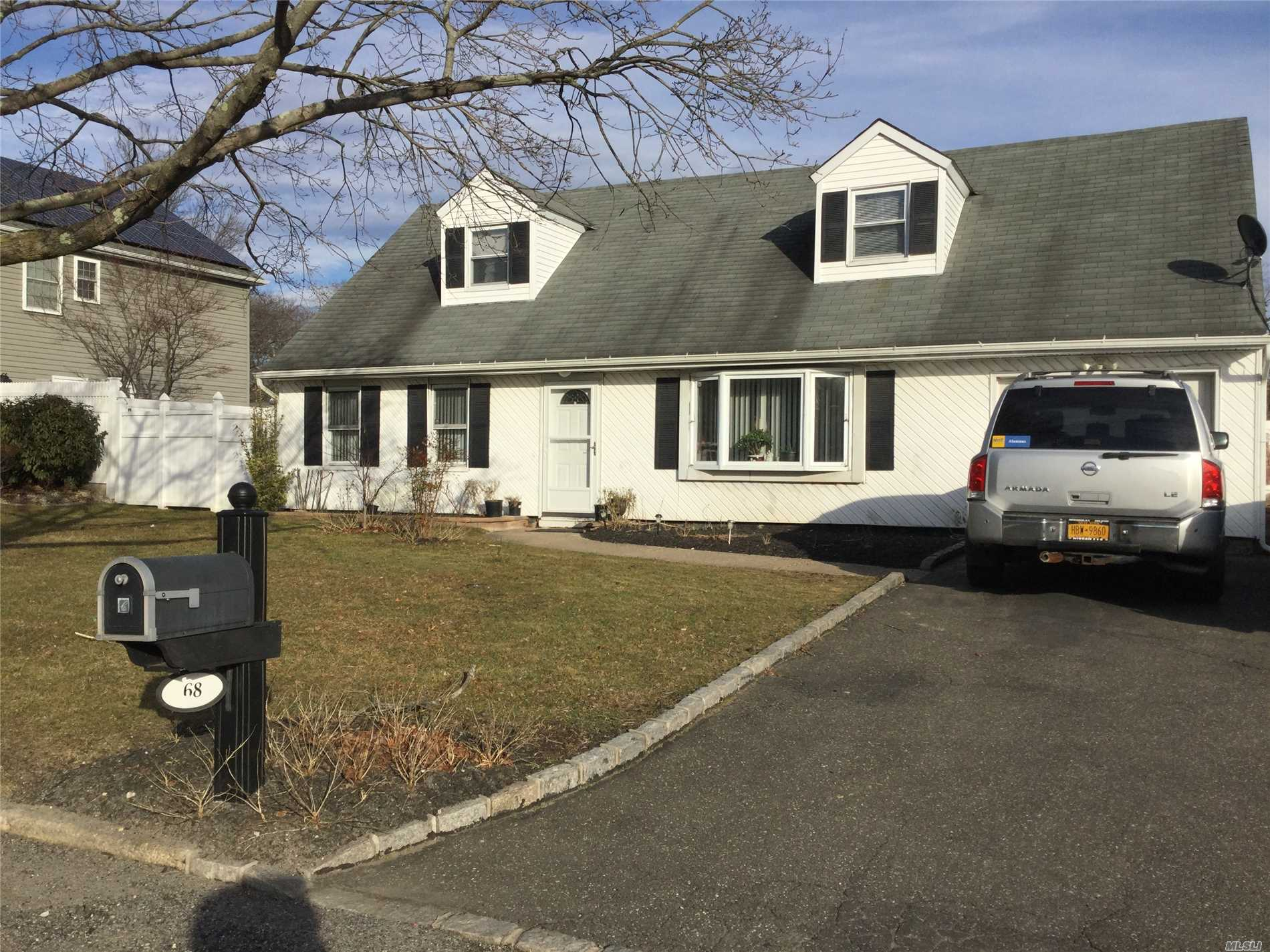 Expanded Cape In Desirable Sachem School District, Great Development. All Nice Size Rooms, Newer Roof, Siding, Windows, 3 Year Old Kitchen, Stainless Steel Appliances, Ceramic Floors, Updated 200 Amp Service, Taxes With Star: $7, 071.64