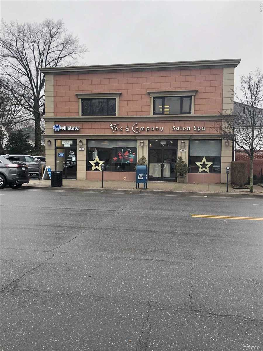Hair/Spa Business On Ground Floor Uses Both Stores. Second Floor Has 3 Office Suites