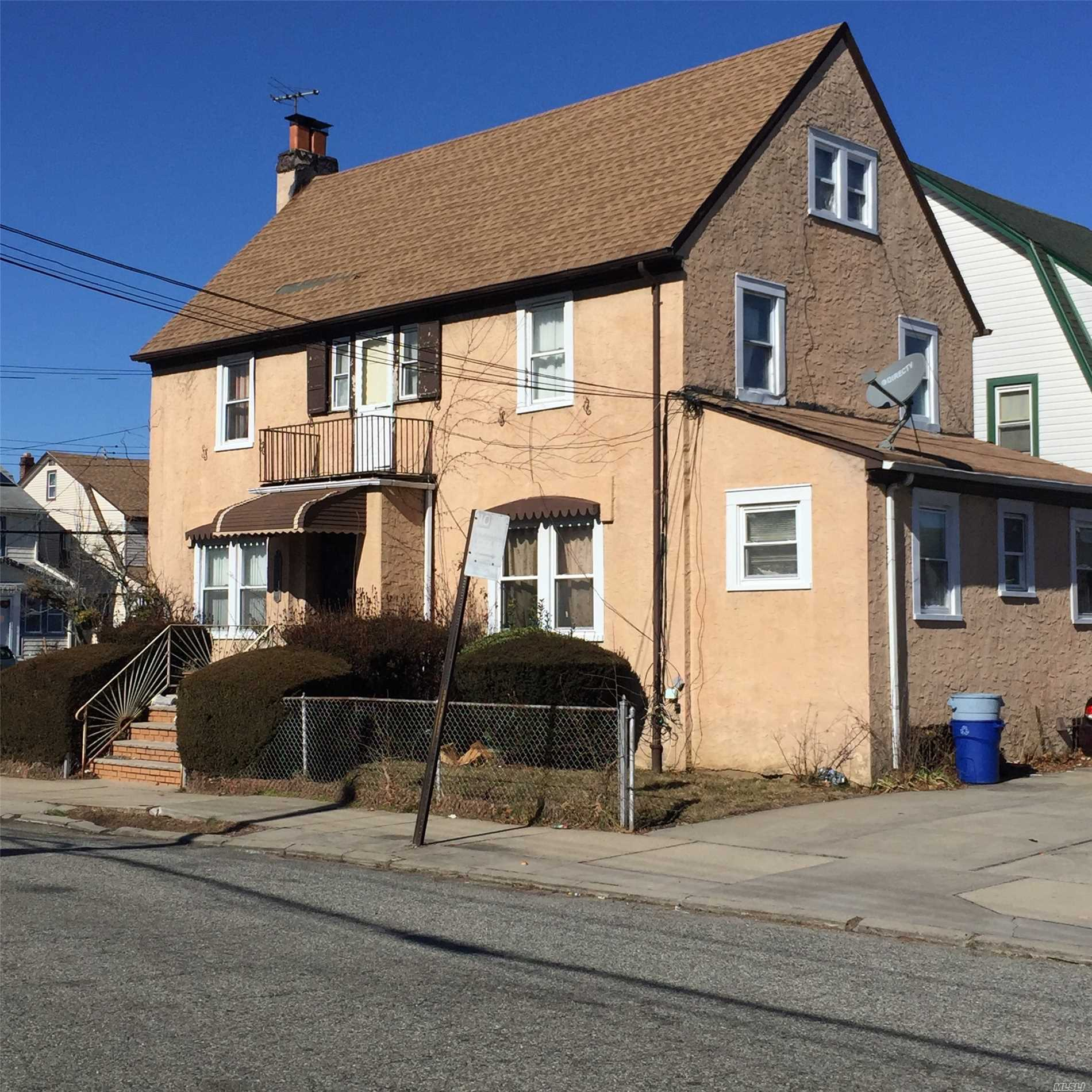 Single Family Colonial With Detached 1 Car Garage & Full Basement In Queens Village. Spacious Home With A Lot Of Potential!! Please Submit All Offers With Proof Of Funds, Thank You.