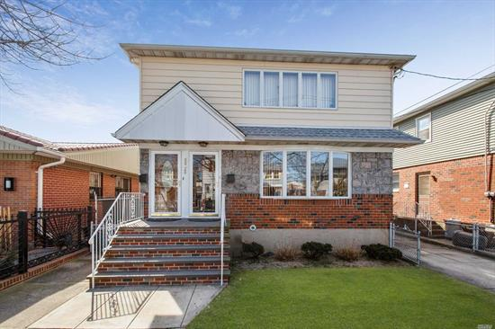 Make This Sun Drenched Home Your Own! Brick & Vinyl Multi Family Home. Extra Income! 3 Large Bedrooms On The First & Second Floors. Enormous Basement! Roof Is 2 Years Young. New Front Door, & Front Stoop. Clean As A Whistle! Pack Your Bags & Move Right In!!