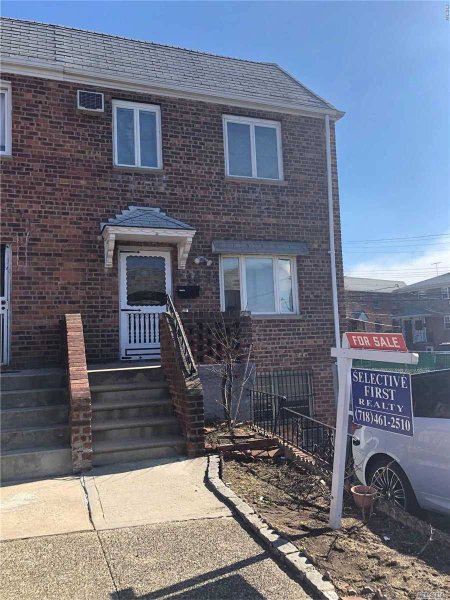 MUST SEE!!! R3-2 Zoning. Beautiful Semi-Detached Brick House, Move-In-Ready, Situated On A Quiet Street In The Heart Of Flushing. Perfect For Potential Investors. It Features 4 Bedrooms, 2.5 Bathroom, Eat In Kitchen, Sunny Living Room, Finished Basement With Private Back Yard And Long Driveway. Two Separate Entrances. Near Transit, Shops, Schools, Parks And All. Excellent Condition. WOW. Must Come See!!!!