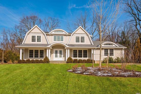 Stunning New Construction In The Heart Of Roslyn Estates!! Hampton-Style Colonial On Over 1/2 Acre Of Exquisite Landscaping. Close To Top Shopping, Highways, And Lirr. Three Luxurious Levels, Hi-Grade Custom Build, High Ceilings And Large Windows Throughout, Huge Walk-Out Lower Level For Optimal Entertaining