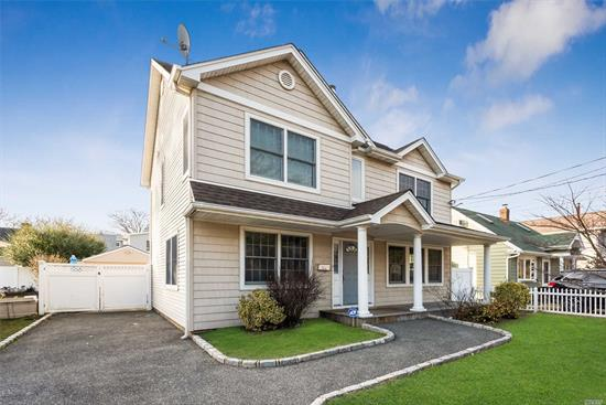 Beautiful Colonial On A Quiet Mid Block Location In The Mandalay Section Of Award Winning Wantagh Schools. 3 Full Baths One With Outside Entrance Leading To Entertainers Backyard With An Inground Pool & Deck. Master Suite W/Vaulted Ceiling, Walk-In Closet & Huge Master Bath. Plus Another 2 Large Bedrooms. Granite Eat-In Kitchen With Stainless Steel Appliances. Hardwood Floors, Central Air Conditioning 1.5 Car Garage. Close To All. Hurry, Will Not Last!