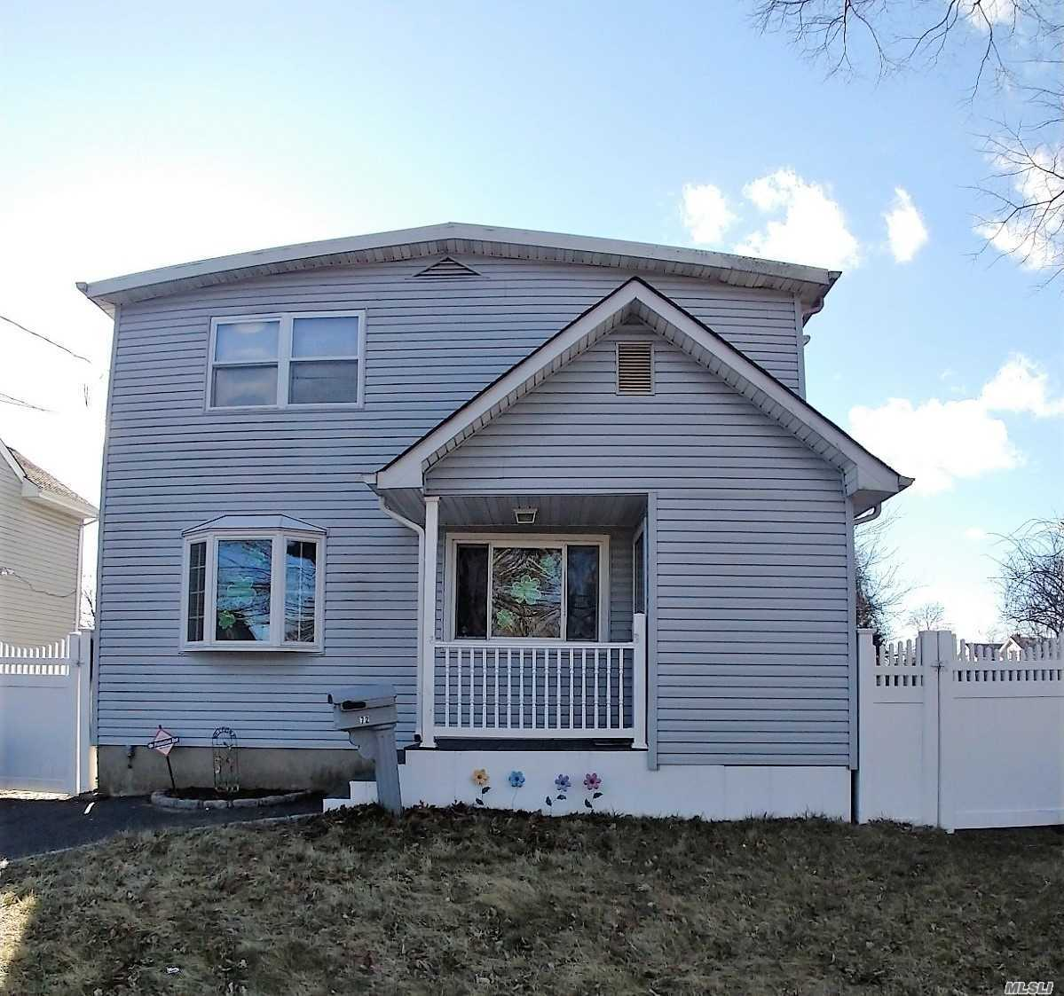 Large Expanded 4-5 Br Colonial In Islip Schools. Large Eat In Kitchen With Center Island, Living Room With Woodburning Fireplace, 2 Updated Baths, All Large Bedrooms. Partially Finished Basemet With Bar. Must See, Will Not Last!