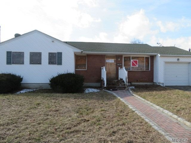 The Ultimate Handyman Special In A Great Neighborhood! Centrally Located Ranch In Need Of Some Serious Tlc! Bring Your Imagination & Make This House A Home Again! Full Basement, Attached Garage & Spacious Backyard! Won't Last! Don't Miss This!