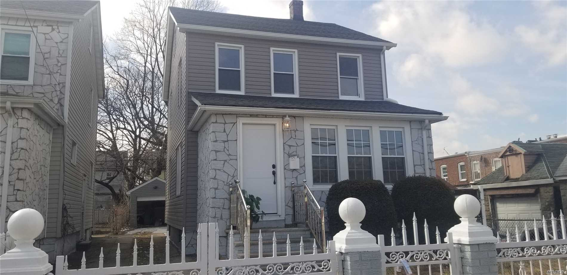 Newly Renovated 1 Family Home With A Full Finish Basement, Full Bath In The Basement Driveway, Backyard And Garage First Floor Futures A Spacious Open Concept Living And Dining Room Combo, Island Kitchen, And 1/2 Bath 2nd Floor Has 3 Bedrooms, 1 Full Bath 3 Floor Has A Spacious Attic Space