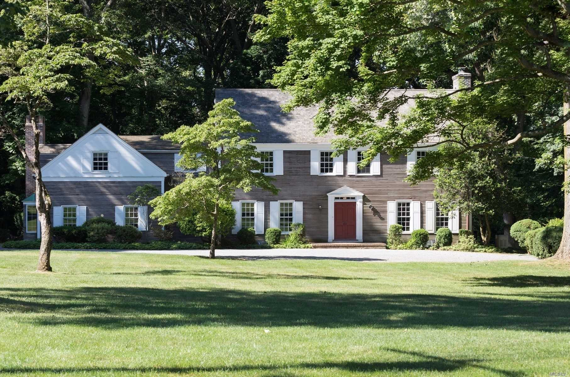 Exceptional 6-Bedroom, Custom Built Colonial On 3.5 Flat, Verdant Acres. Beautiful, Park-Like Setting With Detached 3 Bay Garage. Cedar Roof, Spacious, Sun-Drenched Rooms And 3 Fireplaces. New Systems, Generator And More. Jennings Beach Association With Sandy Beach And Mooring (Dues Required). Cold Spring Harbor Sd#2, Lloyd Harbor Park, Tennis & Camp (Dues Required).