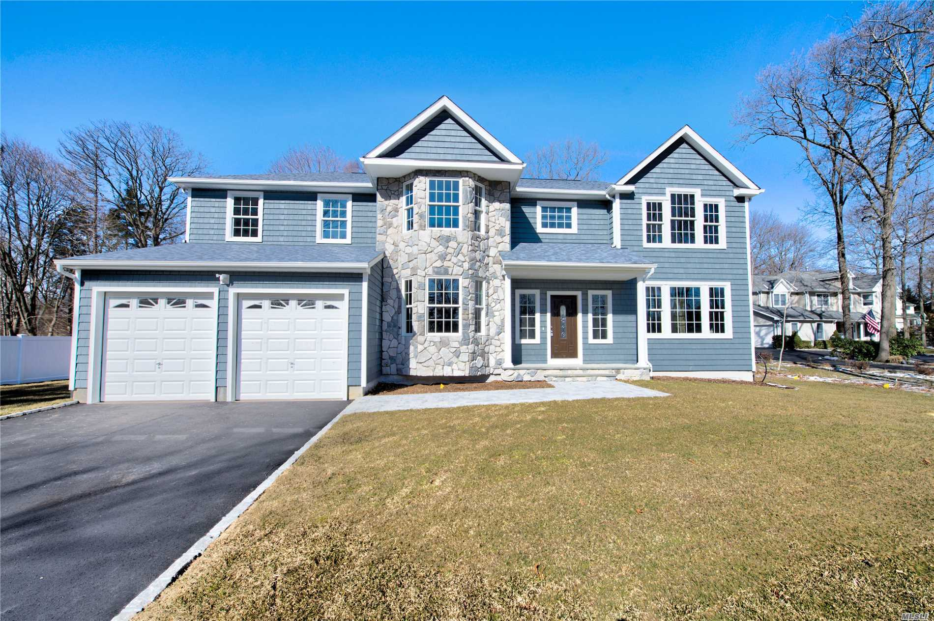 Builder Outdid Himself with Extras! Brand New 3464 Sqft Colonial With 5 Bedrooms, 3.5 Bathrooms, Attached 2 Car Garage, Vaulted Ceilings, And A 9 Foot Basement With Outside Entrance And Low Line Septic System. Den, Lr, Formal Dr, Granite Designer Eik With Stainless Steel Appliances, Wood Floors, 200 Amp, 2 Zone Cac, And More!