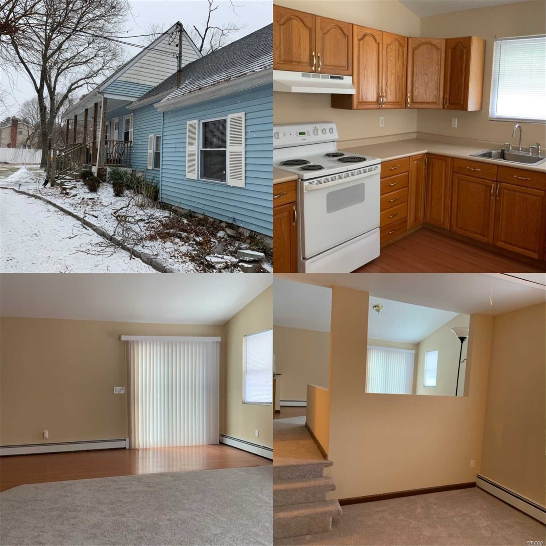 Completely Redone-Cathedral Ceilings, New Cabinets In Kitchen Glass Sliding Doors Leading To Private Deck And Yard Hook Up For Washer/ Dryer,  New Rugs/Floors/Bath And Den. Beautiful Conditions, No Smoking No Pets , Credit And References A Must - Spacious Backyard
