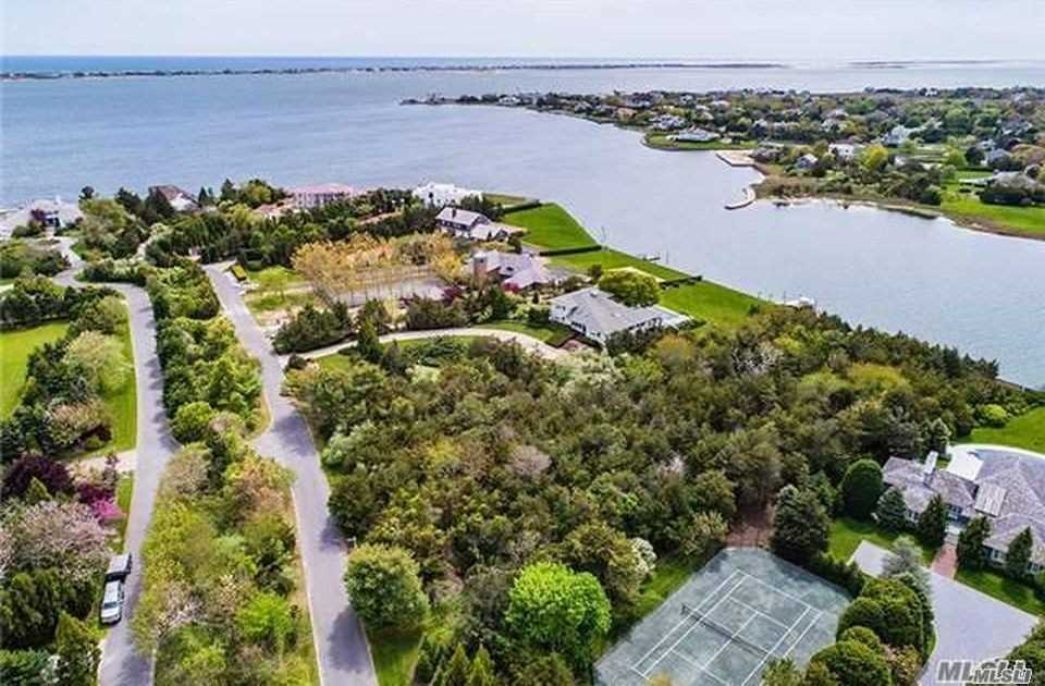 The Most Prestigious Lane In Westhampton. Multi Million Dollar Estate Area. 1.5 Acres, Room For 6, 000 Sq. Ft. Home, Waterside Pool, Large Deck And Tennis Court. 150 Ft. Fully Bulkheaded
