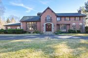 Stately Brick 5 Bdrm/3.5Bth CHC Set On Pvt & Tranquil 2 Acres W/Igp, Tennis Ct, Lovely Gazebo & Barn. Elegantly Appointed Rms: Formal LR W/Floor To Ceiling Custom Fpl, Spacious FDR with Chair Rail & Box Molding, Great Rm W/Hand Picked Stone Fpl with Custom Screen, Huge EIK with Crown Moldings & 12' Bay Window O'looking The Serene Yard. Huge Bsmt Part Finished W/Fpl & Fbth. Locust Valley Schools. Taxes Just Reduced! 1Yr. Home Warranty for the New Home Owners! Private, but Still Convenient to All