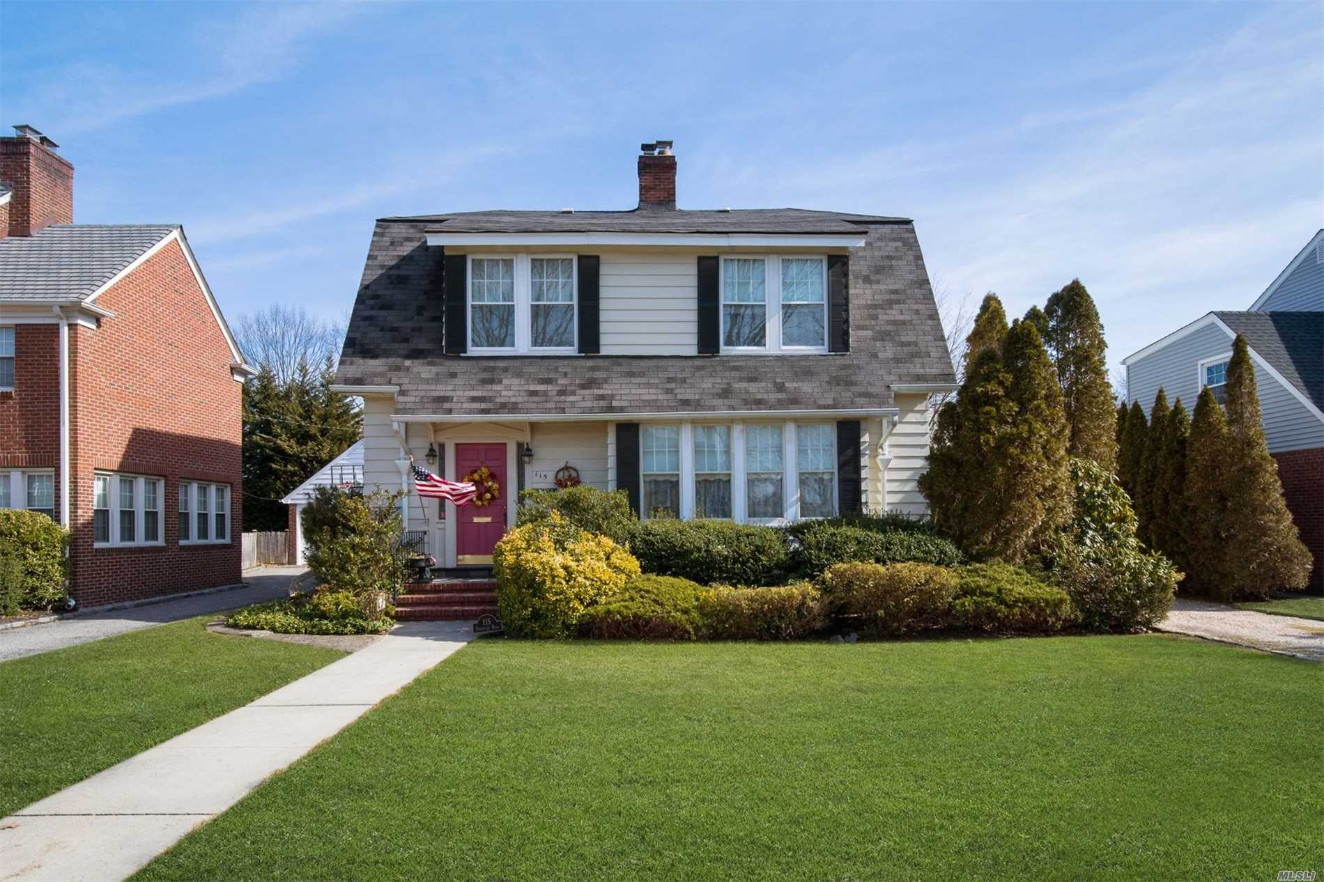 This Traditional Dutch Colonial Exudes Classic Charm & Timeless Sophistication - Perfectly Situated Mid-Block On 60X110 Lot In The Heart Of The Estates Section. First Flr Features Fyr, Lr W/Fp, Fdr, Kit W/ Dining Area, Full Bath & 3 Season Rm. Second Flr Offers 4 Bedrms & Full Bathrm. Full Bsmt W/ Ose, 2 Rec Rms, Lndry & Storage Space. New Boiler, Igs, Water Filtration System, 1 Car Garage. The Home Enjoys Low Taxes Is Proximate To 2 Lirr Stations, School & Park - The Perfect Place To Call Home!