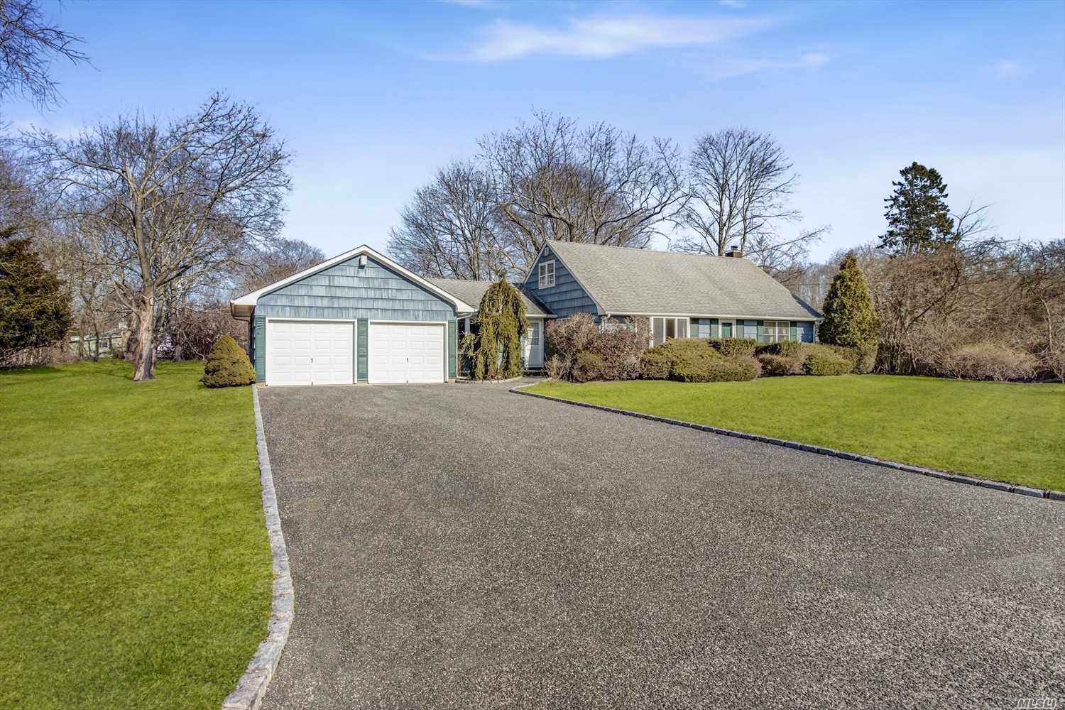 A Large Cape Cod On A Quiet Country Dead End Block, so close to the charming town it offers a lifestyle! This Home Has Many Upgrades and Beautifully Kept! Wood Floors Throughout, Quality Upgraded Custom Kitchen, Cac, Attached 2 Car Garage, and more. Lovely Yard With Ample Space to make your oasis. Room For Pool. A home not to be missed in your search!