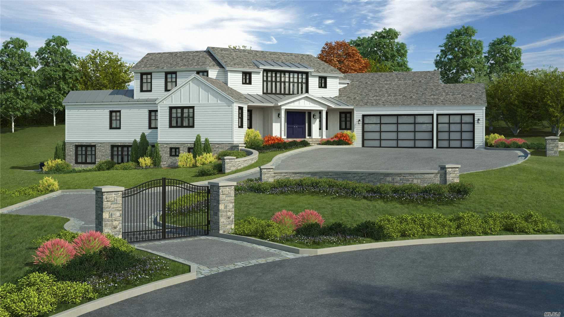Spectacular Modern Farm Ranch New Construction By Renowned Hampton's Builder.Private Setting With A Convenient Location, This Home Has It All! High-End Finishes & Materials, Open Modern Floor Plan, 22Ft High Great Room With Walls Of Glass, 10 Foot High Ceilings Throughout Including The 3000 Sqft Lower Level, Oversized 3 Car Garage For Today's Xtra Long Suvs, 4 Bedrooms Plus A Grand Master Suite! Still Time To Customize This Dream Home! Interior Pictures For Workmanship Purposes Only-Features May Vary.