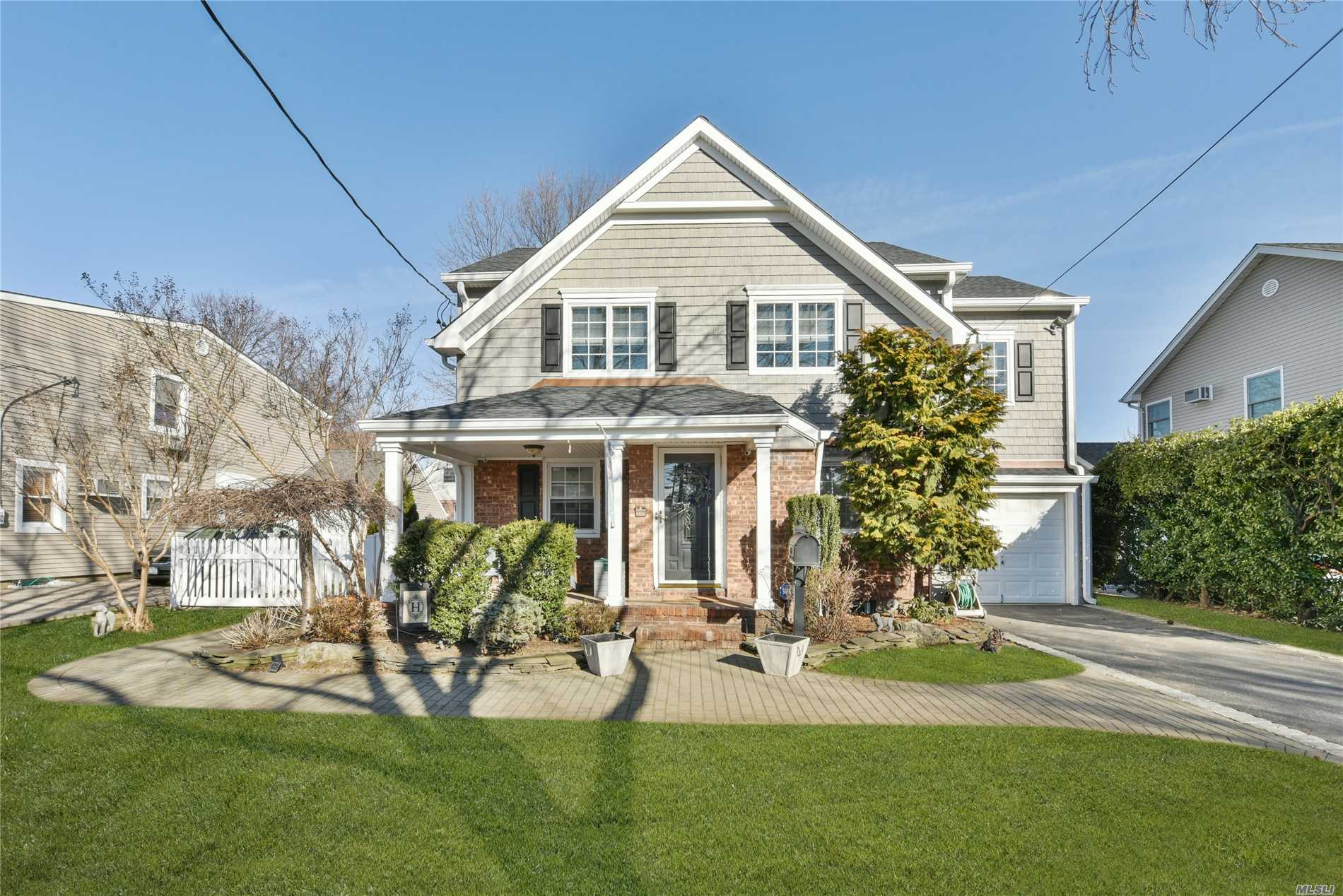 Expanded Colonial Boasts Newly Constructed Second Floor Addition. Master Suite W/Custom Closet, Master Bath W/Radiant Heat & Marble , New 2 Zone Cac/Gas Heat (3 Zones), Crown Molding & Andersen Windows, New Siding & Roof 2018 And More!!