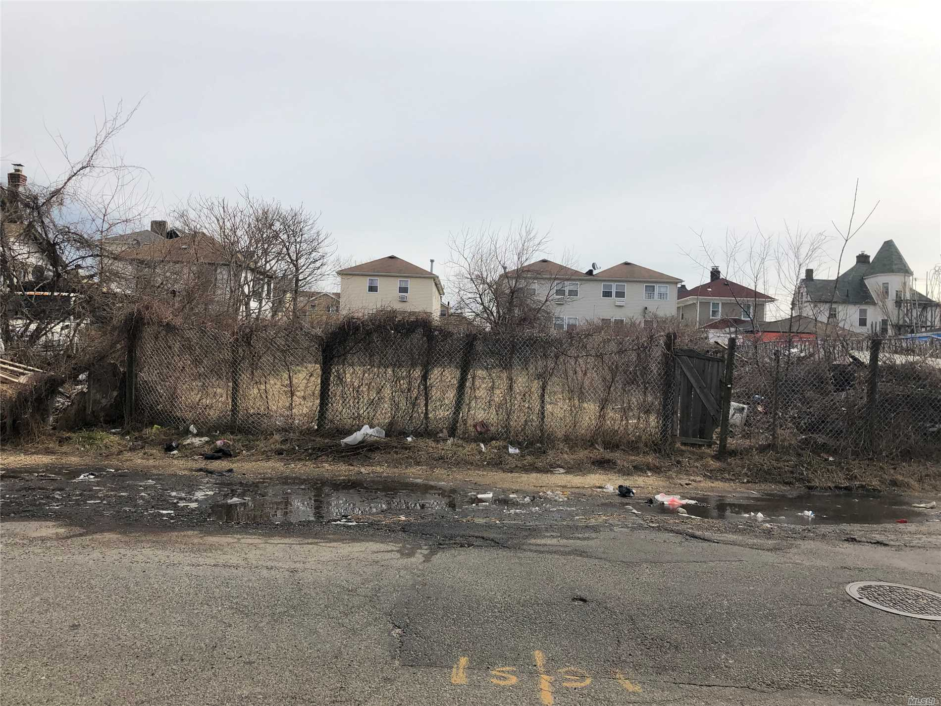 A Vacant 75X125 Excellent Residential Land In Up And Coming Neighborhood. Ideal For Multi 2 Family Houses. Near Lirr And A Subway.