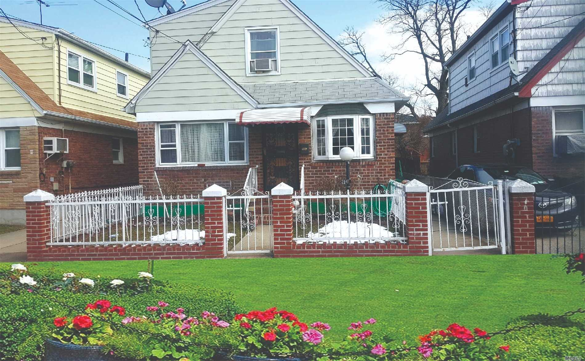 Very Good Location Nice 2 Family Detached Property With Nice Backyard Full Finished Basement With Os.E.Close To School Ps 127 - District 30. Close To Public Transportation: Q48 To Main St, Q72 & Q19/19B & Also Walking Distance To Laguardia Airport Terminals.