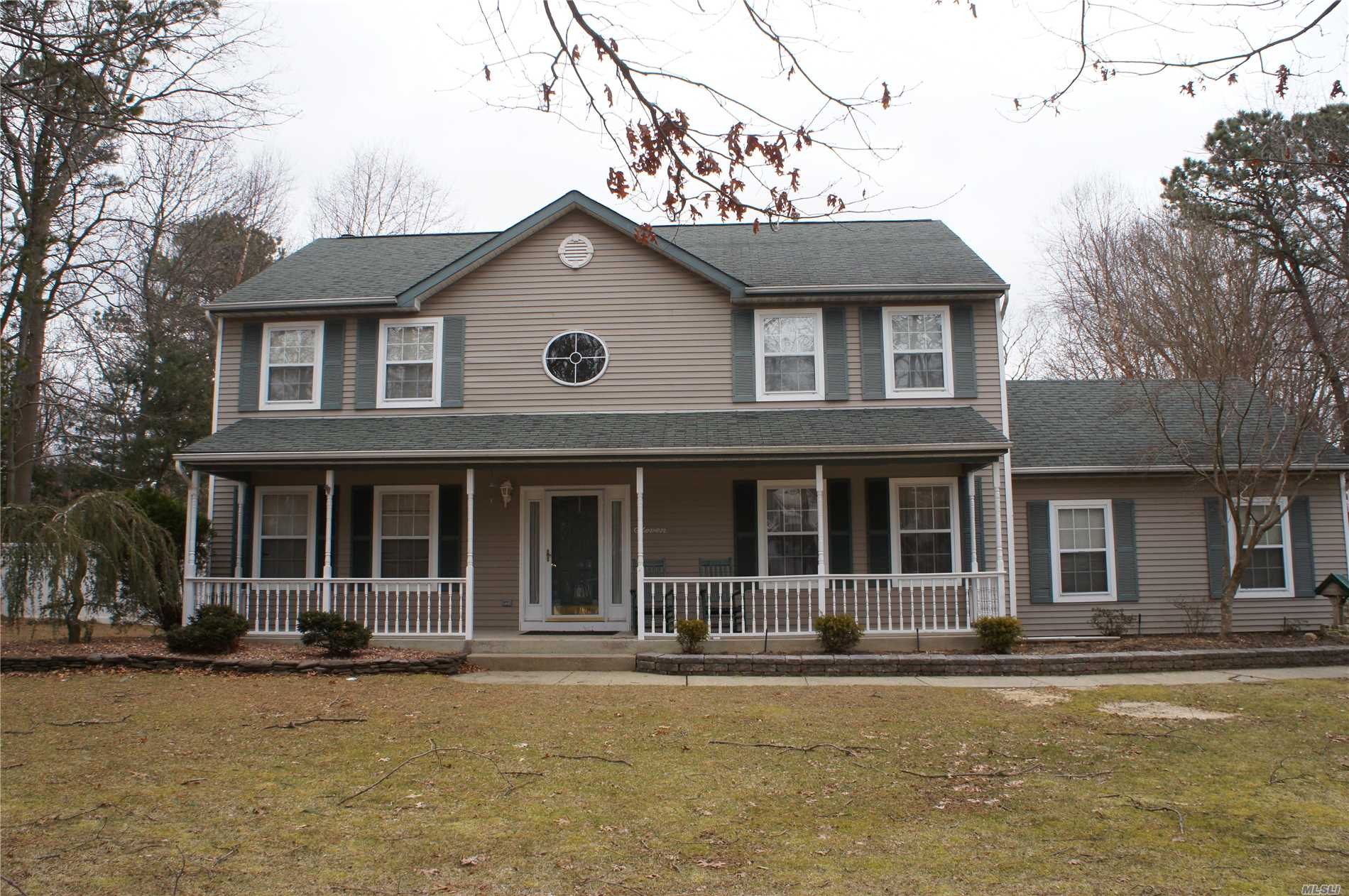 This Beautiful Colonial In The Heart Of Manorville. This 4 Bedroom, 2 1/2 Bath Home Has A Formal Living Room, Dining Room, Den W/Fireplace & Full Basement With Natural Gas. The Park Like Backyard Is Home To An Incredible Inground Pool And Room For More. This Home Is A Must See!!!