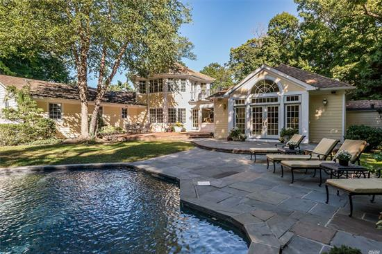 Pools Open - Come Experience the Glorious Lush Property In Full Bloom This Sun-Drenched Home Offers Large Living Room W/ Fireplace, Formal Dinrm W/ French Doors Leading Into Eik, Breakfast Area With Views Of Spectacular Property, Adjacent To Family Room With Vaulted Ceilings. A Master Suite That Will Fulfill Your Every Dream, Comprised Of Master Bedroom, Master Bath, Walk-In Closet And Access To Deck Overlooking Professionally Landscaped Property + A Generator.