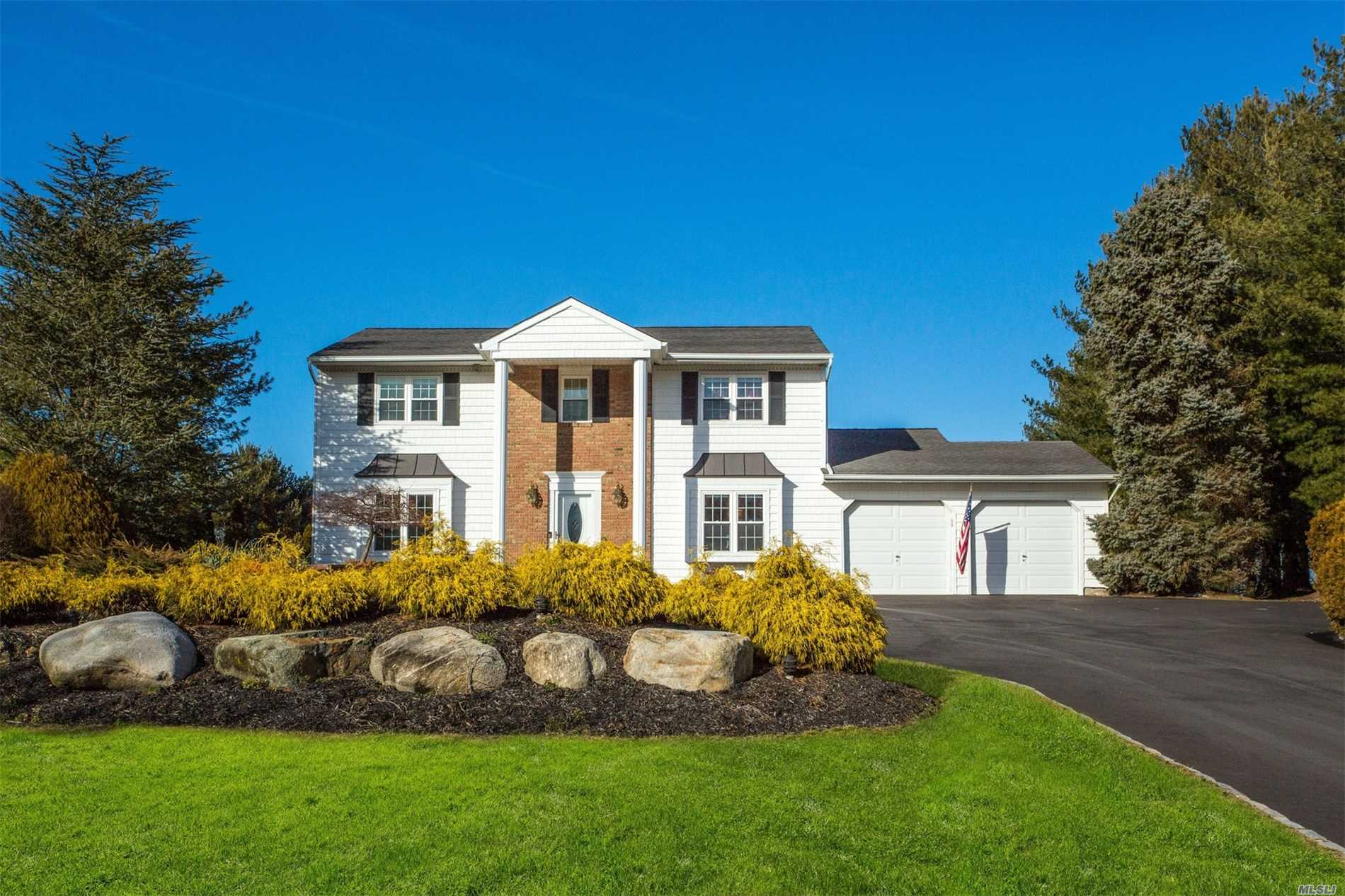 New To Market! Beautiful Colonial Set On A Picturesque Acre At A Great Location. Updated And Ready To Enjoy With Heated In-Ground Pool And Tennis Court/Full Basketball Court.