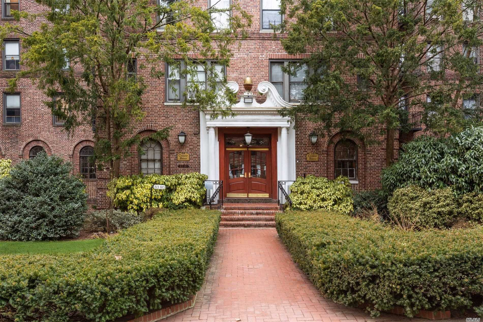 Spacious Bright Alcove Studio Pre War Co-Op, 9Ft Ceilings Large Windows, Wood Floors, Lots Of Closets Space, Eat-In Kitchen, Very Quiet Unit,  Pet-Friendly, Extra Storage Available In The Building, Curzon House Is A Beautiful Building, Conviently Located Close To Forest Park, Subway Line E, F, Lirr