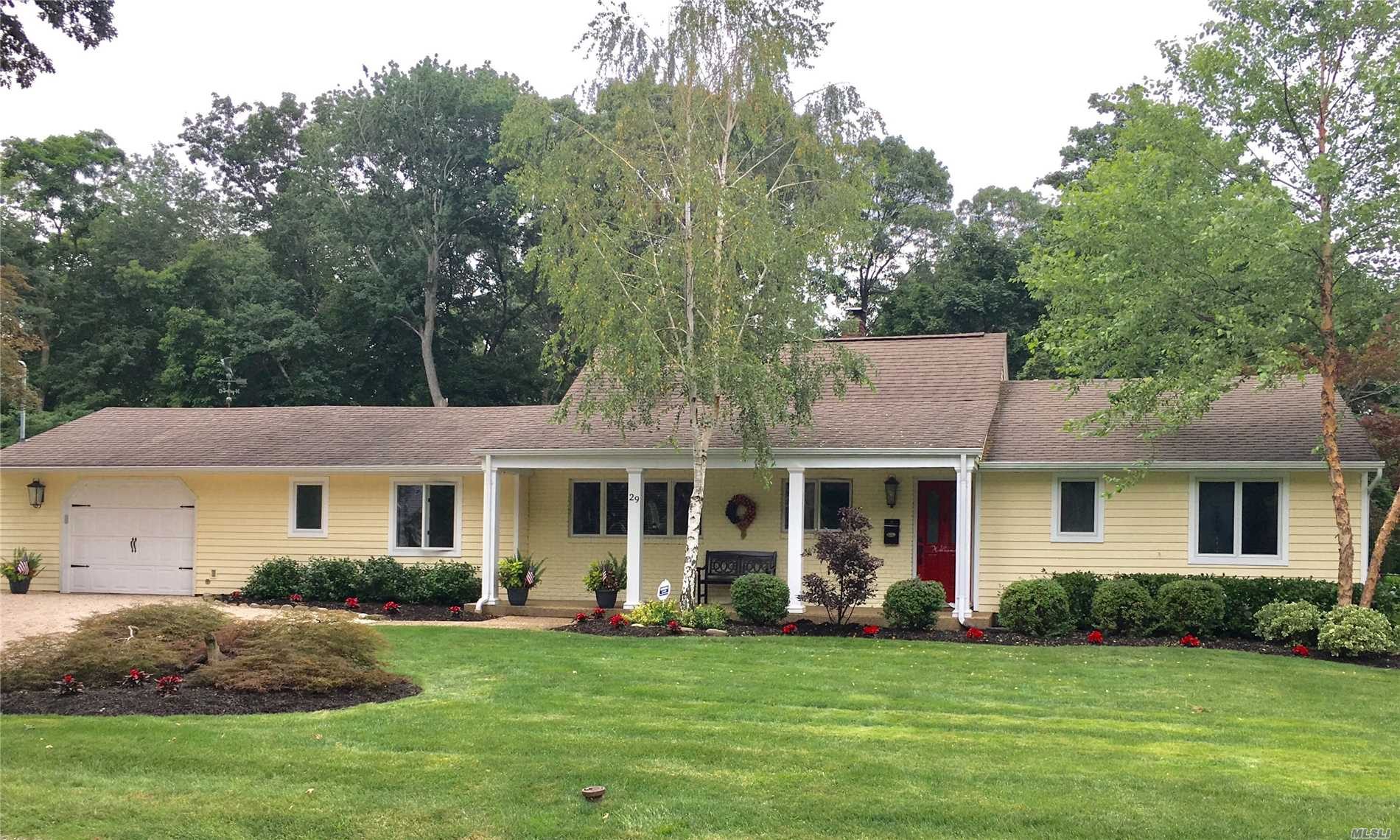 Amazing Location In Northport Village, This 7 Rm, 3-4 Bedroom, 2 Bath Farm Ranch Offers Mostly 1 Floor Living!!! Cac, Wood Burning Fireplace, 1.5 Car Attached Garage, .62 Flat Mid Block Acres Backs To Woods & Trails To Village. New Paver Patio,  Taxes $10, 326.65 With Star