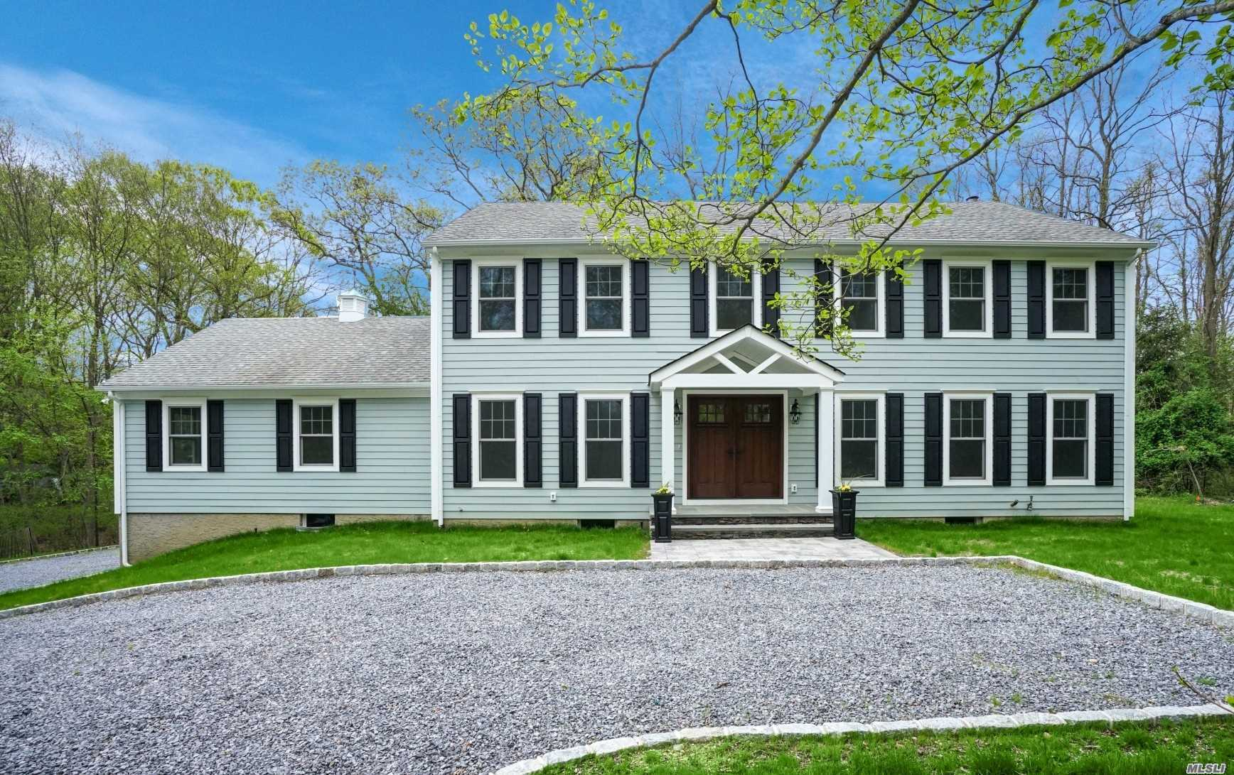 Better Than New Meticulously Renovated In 2018 W/ Superior Hi End Custom Quality, This Diamond 5Br 3 Full Bath Colonial Is Set In A Quiet Culdesac! Stunning New Gourmet Granite White Eik W/ Viking Appliances & Center Island Open To Fam Rm, Beautiful New Hardwood Flooring, New Staircase, New Marvin Windows, Designer Colors, New Hardie Board Exterior Siding, New Paver Patio, Hi Hats, Brand New Baths, Upd Elec, New Cac, New Belgium Block Lined Driveway, 2 Private Serene Acres, Orig House Built 1978