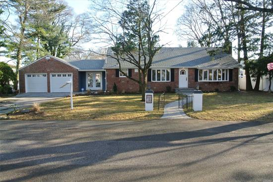 Truly Unique, Spacious, Beautifully Remodeled 2000Sf Split Ranch Nestled At End Of Private Roadway. Stunning Open Floor Plan W/Gorgeous Kitchen, Vaulted Ceiling Great Room W/Frplce, Hardwoods Thru, Sunny Dining Room, 4 Bedrooms, 3 Bathrooms Including A Master Suite With Own Bathroom & Walk In Closet, 2.5 Car Garage, Full Finished Basement W/Ose, Rear Deck And Enclosed Porch. Sits On Huge Secluded Lot! Has Something For All... One Of A Kind!