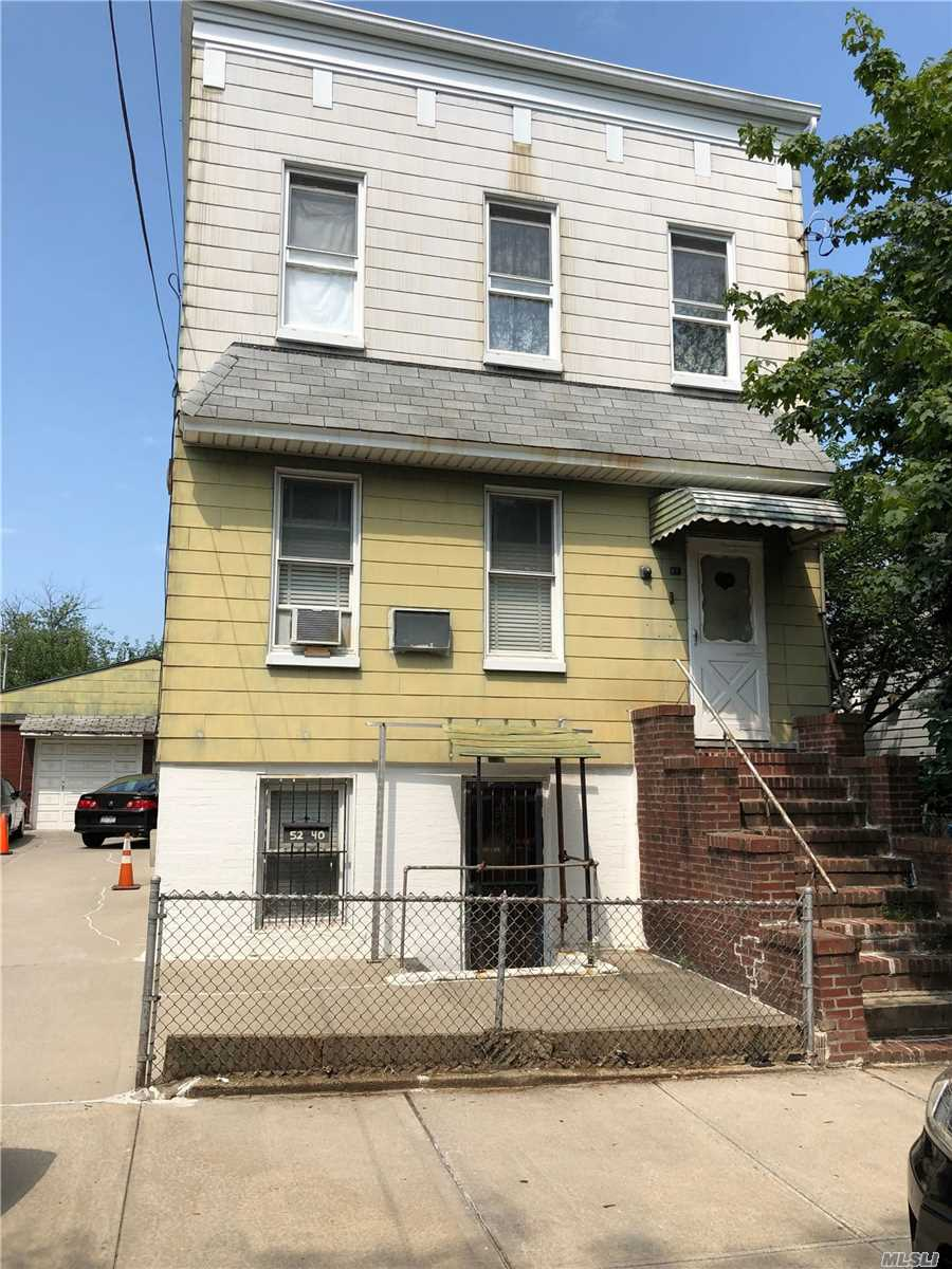 Large 2 Family Detached on 50x85 Lot. Building 21x46 3 stories. 2 Car Detached Garage. House Needs Work. Lot 80 And 81